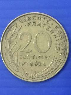 France 10 Centimes Y1962
