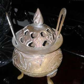 Footed Brass Insence Burner