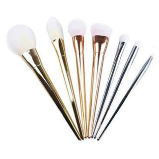 7pcs Metallic Makeup Brush Set