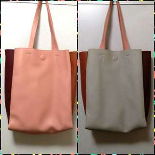Korea double sided colors hangbag 韓國雙面色手袋