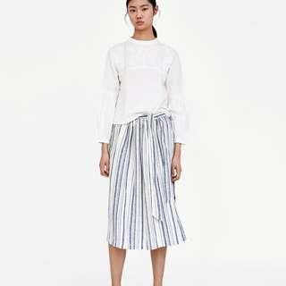 Zara Striped Linen Skirt