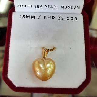 Heartshaped south sea pearl pendant in 18kt gold