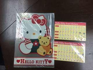 1993 1994年 絕版 Hello Kitty file & Stickers 貼紙
