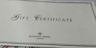 Diamond hotel voucher