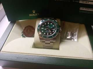Rolex 116610lv Submariner 亂碼卡