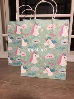 Magic unicorn paper bag/ Kraft paper bag- for goodies bag carrier, door gift packaging