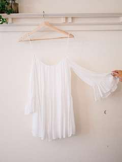 Zara Off-Shoulder White Jumpsuit