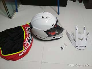 Like New LS2 Pioneer Dual sport helmet with sun visor