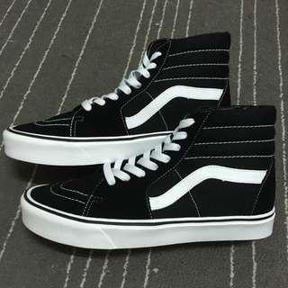 Vans Sk8-Hi lite+ 輕量化 黑白 帆布鞋 滑板鞋 Old skool era authentic