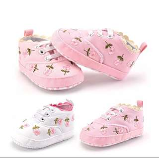 SB 053 Baby Girl Floral Shoes