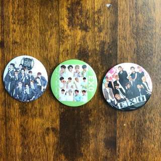 EXO badges + an exo-m badge