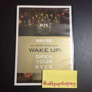 BTS 1ST JAPAN TOUR WAKE UP: OPEN YOUR EYES DVD