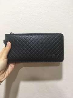 John Langford Leather Clutch Bag/ Long Purse