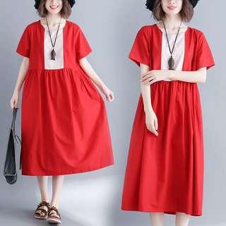 🚚 Ladies Plus Size mosaic Tibetan loose  dress