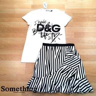 Brand: D & G   Details: Set (shirt + skirt)