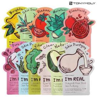 [STOCK SALE] Tony Moly I'm Real Face Mask