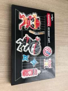 Smiggle eraser set(Konichiwa)