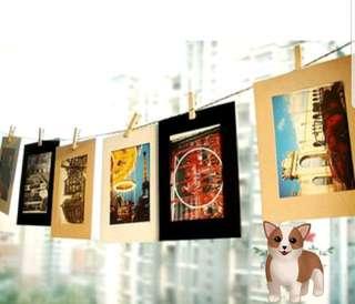 Instax/ Polaroid paper photo frame DIY wall hangingd