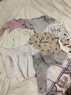 Baby clothes $50 for 9 items