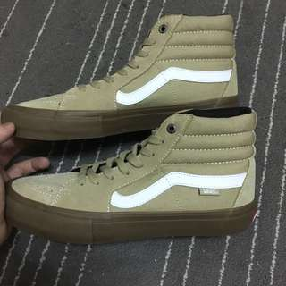 Vans Sk8-Hi 卡其 咖啡 駝色 麂皮 帆布鞋 滑板鞋 Old skool era authentic