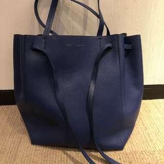 Celine cabas tote bag blue
