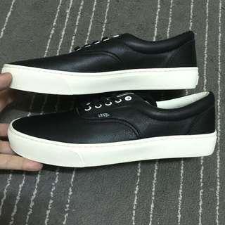 Vans era cup leather 黑白 皮革 帆布鞋 滑板鞋 Old skool authentic