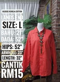 Blouse Kemeja Cotton Plus Size