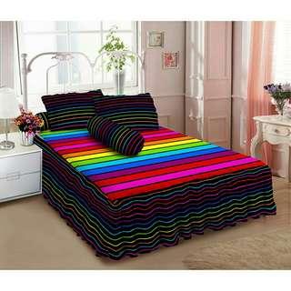 Kintakun Seprei Rumbai D'Luxe Rainbow