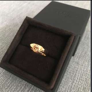 ( fire sale)BN Hermes rose gold cdc ring