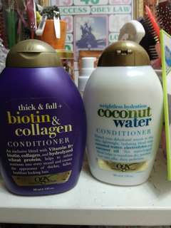 [FREE SHIPPING] OGX Conditioners (Biotin & Collagen[sold] and Coconut Water)