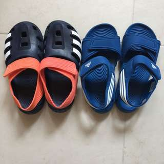 Adidas小童涼鞋2對(約6-8歳)