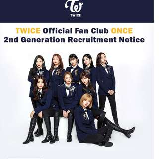 GO TWICE ONCE 2nd Generation Membership