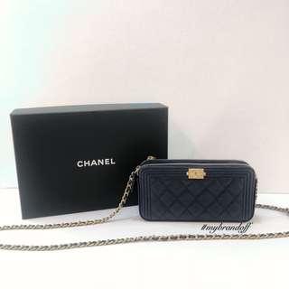 Chanel Boy Clutch with Chain
