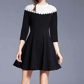 🎠 FLASH DEAL - Plus Size 2X Dolly Floral Crotchet Vintage OL Skater A-line Classic Dress