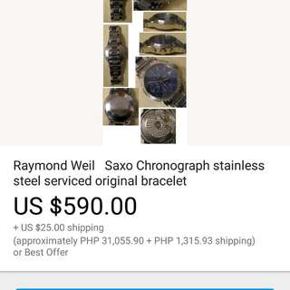Raymond weil saxo automatic chronograph