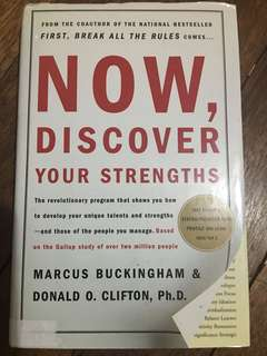 Now, Discover Your Strengths (Marcus Buckingham & Donald Clifton) Hardbound