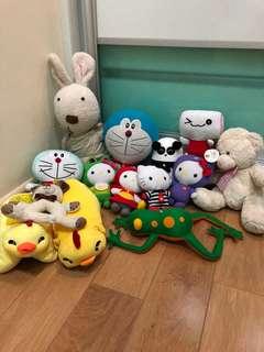 14 pcs soft toys