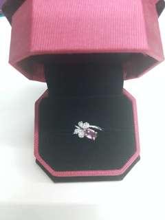 925銀鑲粉紫色藍寶石戒指