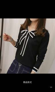 Long sleeve black n white TOP