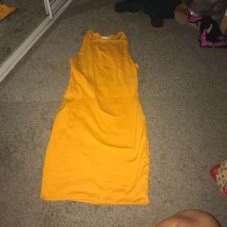 Kookai orange fitted dress