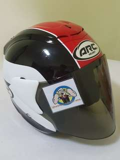 3105*** ARC TIARA RED Helmet v Tinted Black Visor For Sale 😁😁Thanks To All My Buyer Support 🐇🐇 Yamaha, Honda, Suzuki