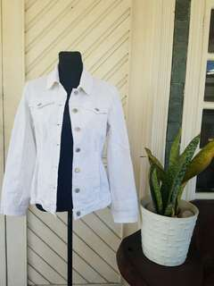 Bangkok Oversized White Denim Jacket