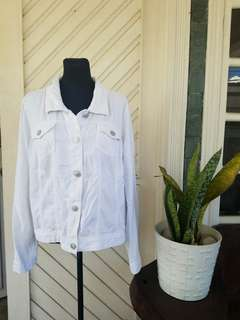 Bangkok Oversized White Denim Jacket
