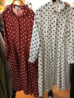 Danielle Polka Dot Dress (red and white)