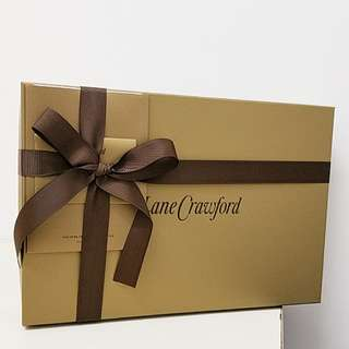 Lane Crawford Gift Box with ribbon