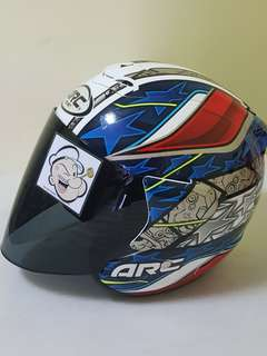 3105*** ARC RITZ AR4 Special Edition V Tinted Black Visor Helmet For Sale 😁😁Thanks To All My Buyer Support 🐇🐇 Yamaha, Honda, Suzuki