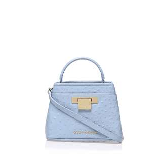 全新 I T Kurt Geiger Blue Ostrich Mini Kate Bag 迷你手挽袋 側揹袋 原價$2699