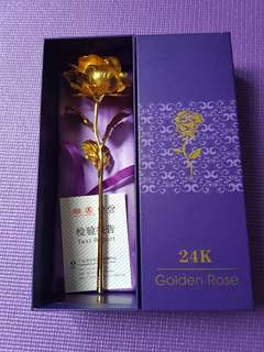 24K Plated Rose