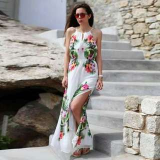 🔴Maxi floral  dress with slit