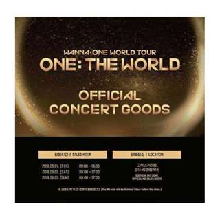 [PO] WANNA ONE WORLD TOUR MERCHANDISE